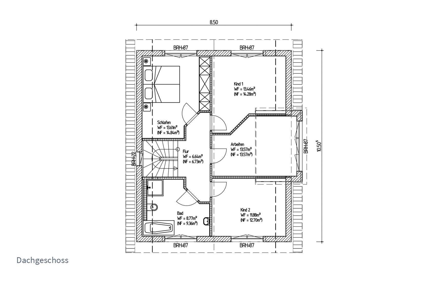Typenhaus Asterion - ALG Massivhaus GmbH Grundriss DG