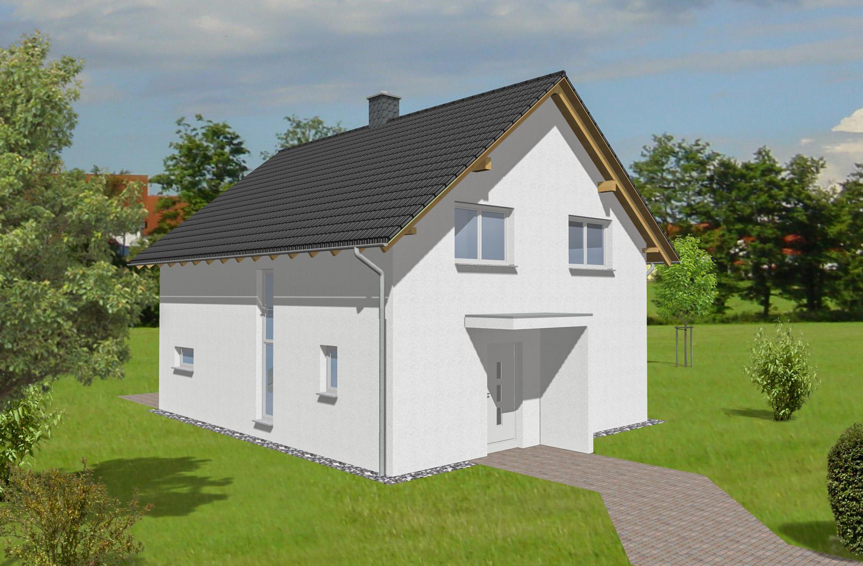 Typenhaus Asterion - ALG Massivhaus GmbH Eingangsansicht