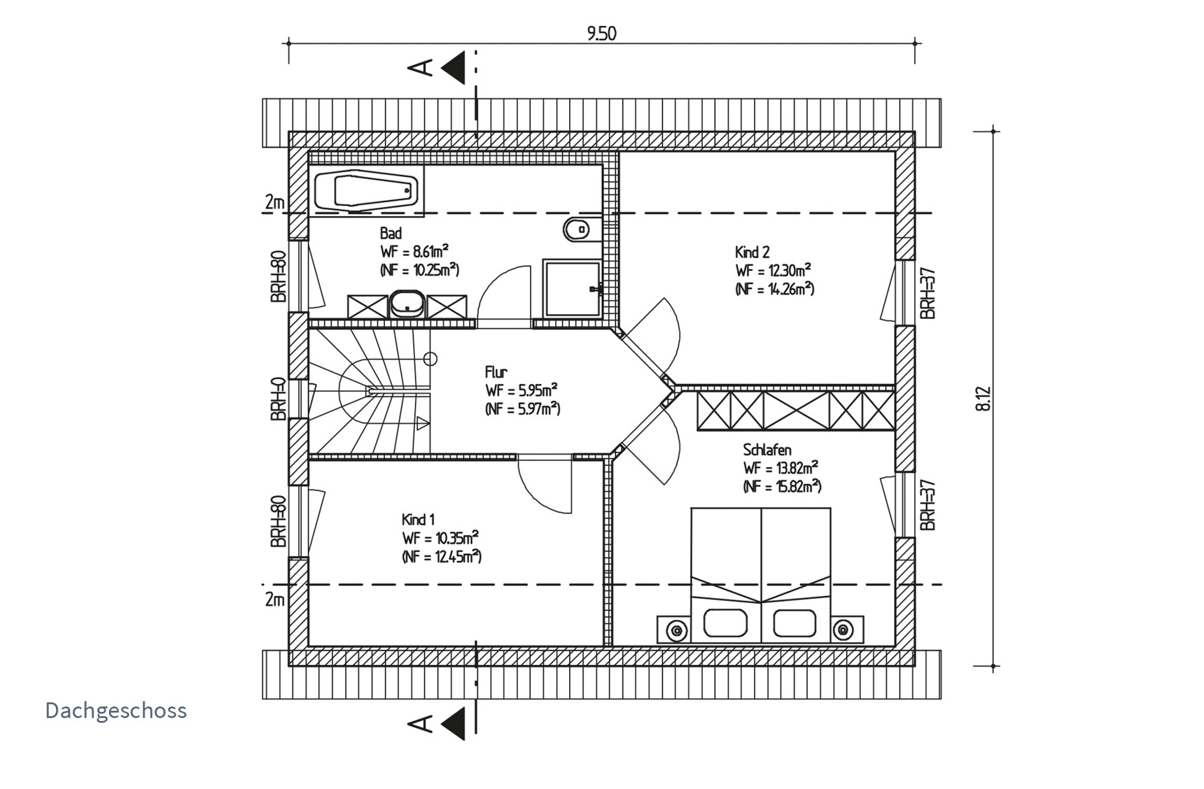 Typenhaus Acrux - ALG Massivhaus GmbH Grundriss DG