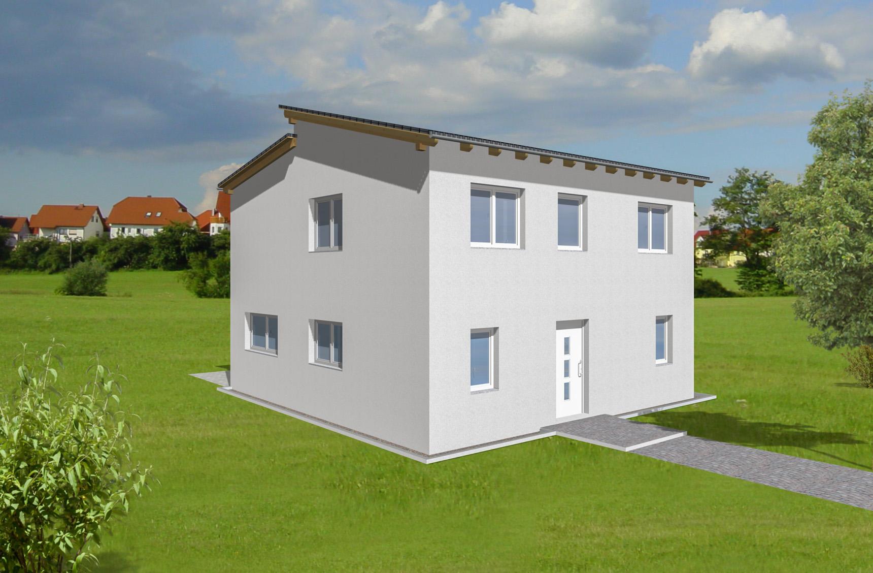 Typenhaus Antares - ALG Massivhaus GmbH Eingangsansicht