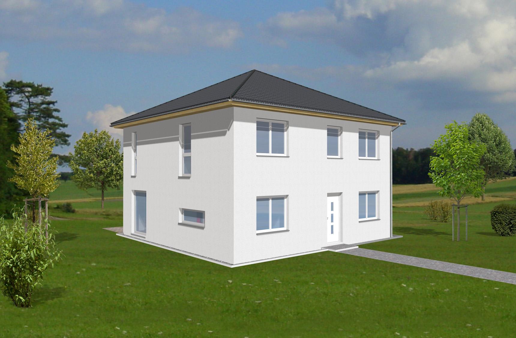 Typenhaus Arcturus - ALG Massivhaus GmbH Eingangsansicht