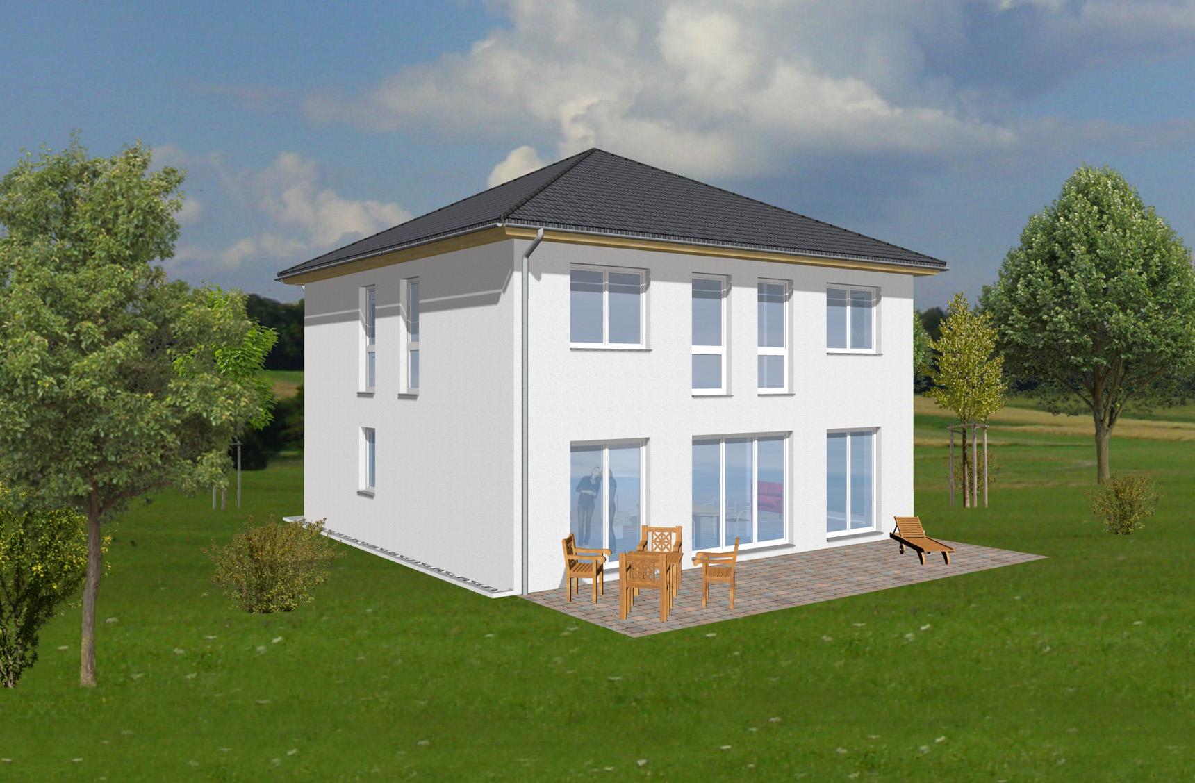 Typenhaus Arcturus - ALG Massivhaus GmbH Gartenansicht