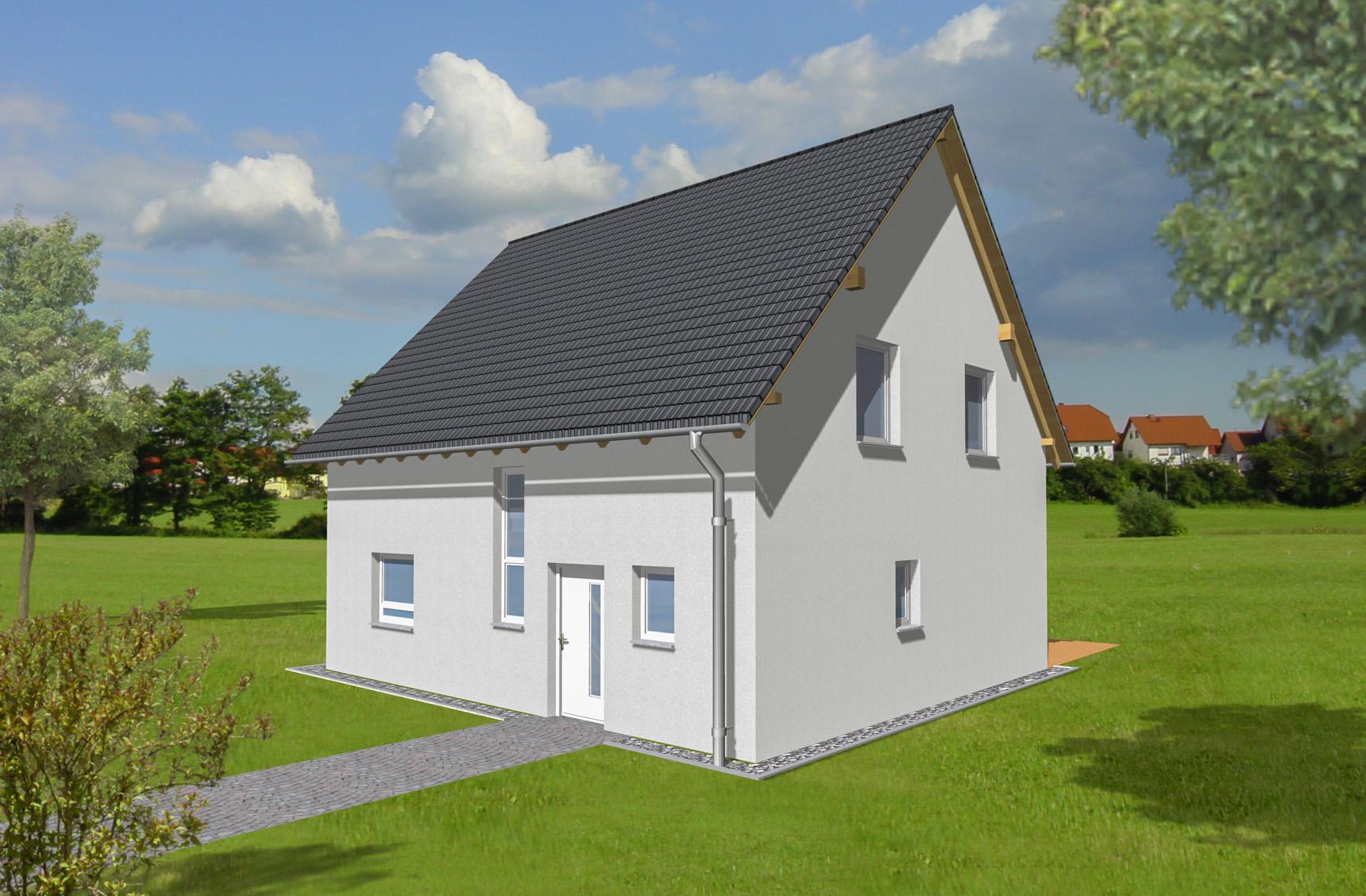 Typenhaus Becrux - ALG Massivhaus GmbH Eingangsansicht