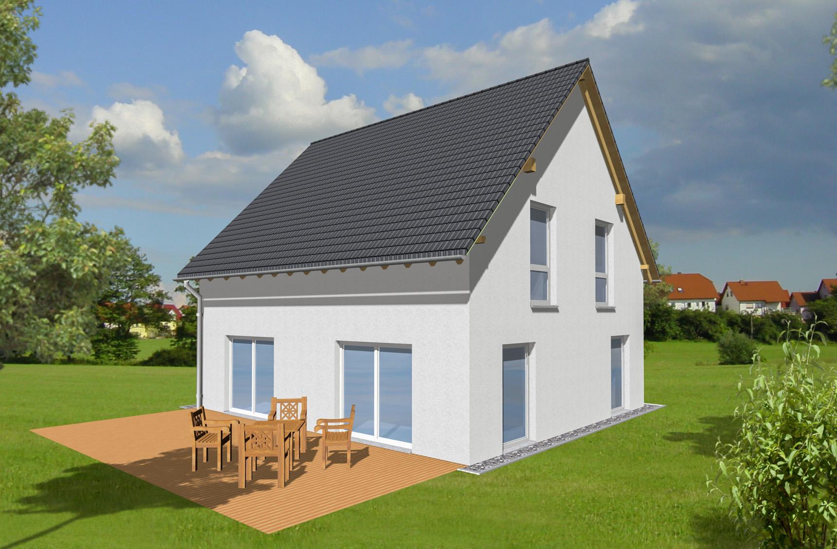 Typenhaus Becrux - ALG Massivhaus GmbH Gartenansicht