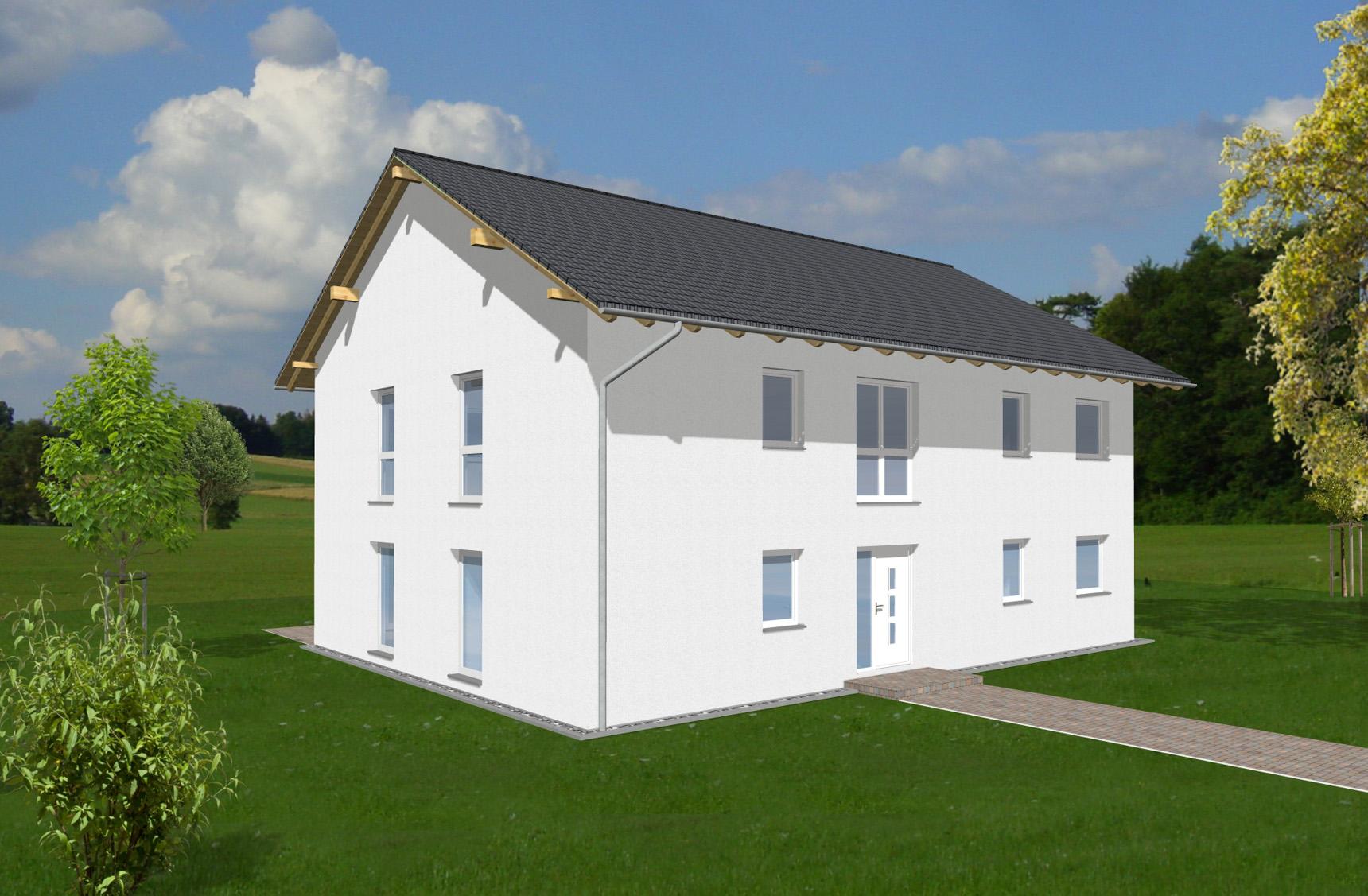 Typenhaus Capella - ALG Massivhaus GmbH Eingangsansicht