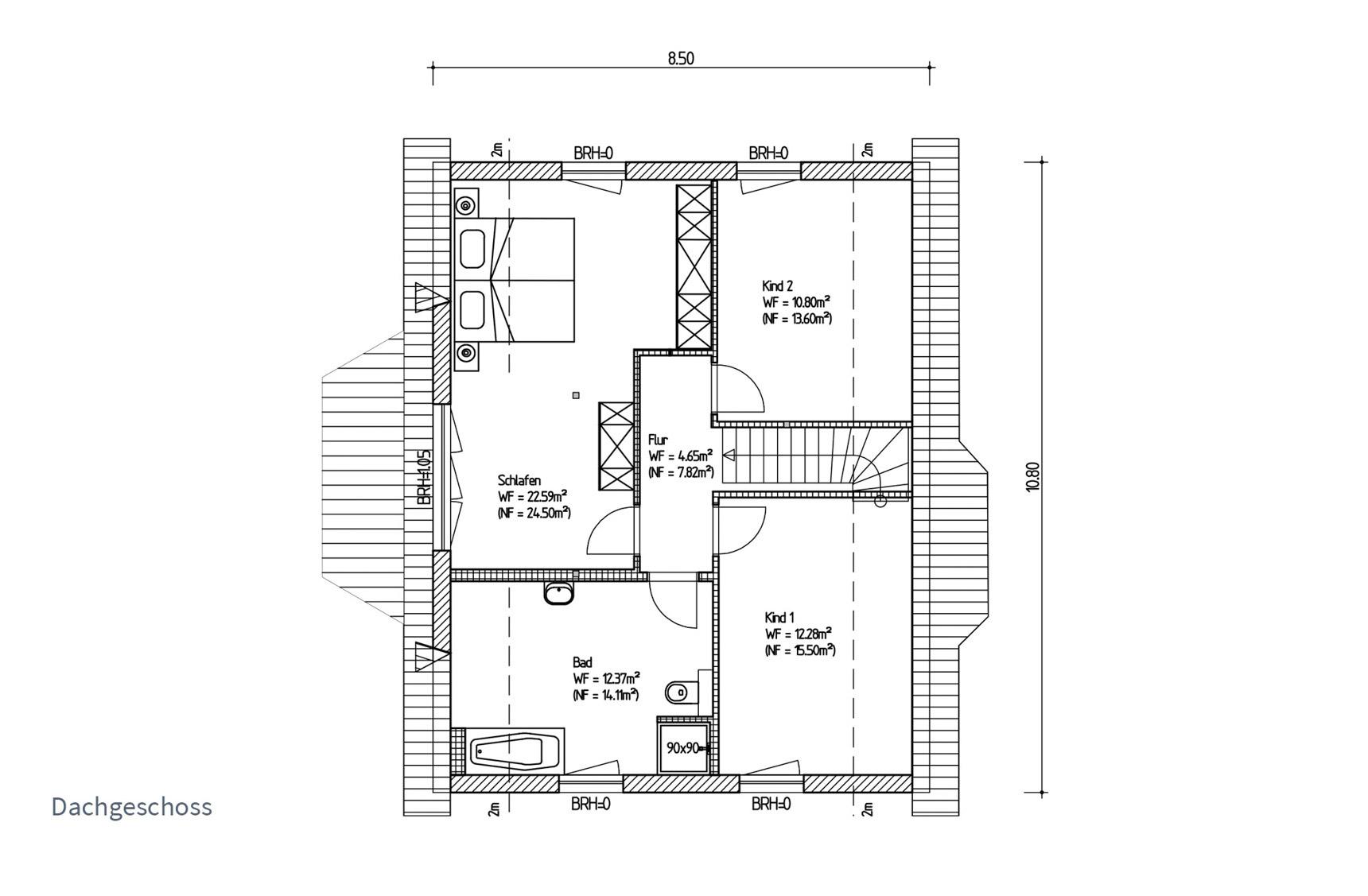 Typenhaus Miram - ALG Massivhaus GmbH Grundriss DG