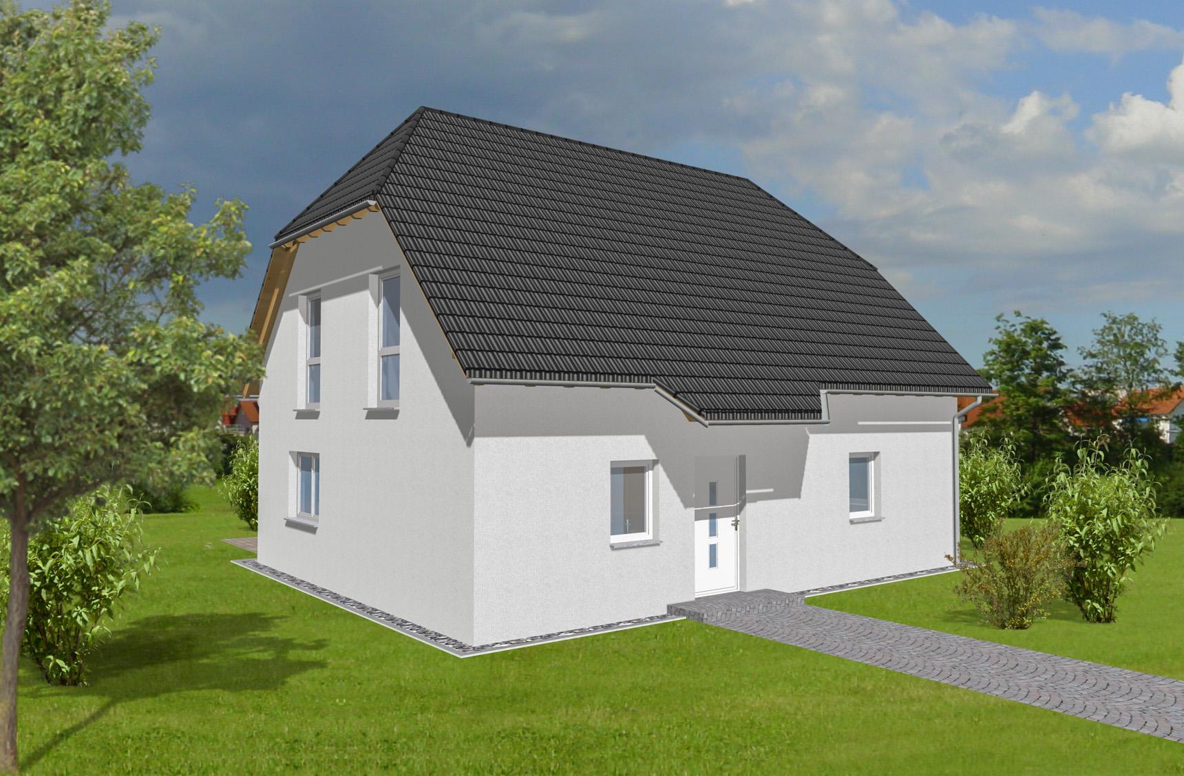 Typenhaus Miram - ALG Massivhaus GmbH Eingangsansicht
