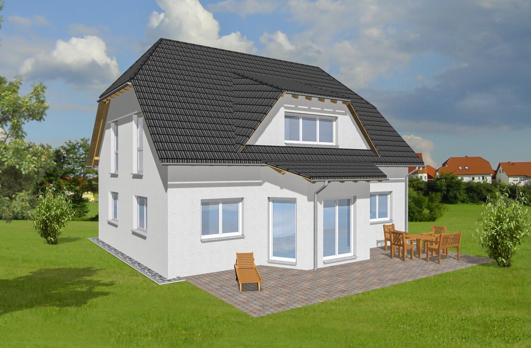 Typenhaus Miram - ALG Massivhaus GmbH Gartenansicht