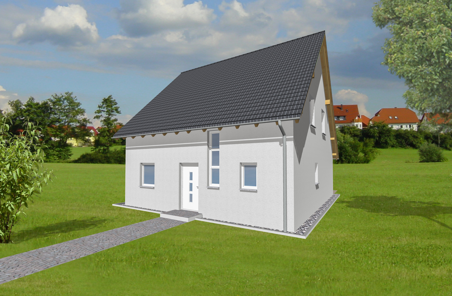 Typenhaus Naos - ALG Massivhaus GmbH Eingangsansicht