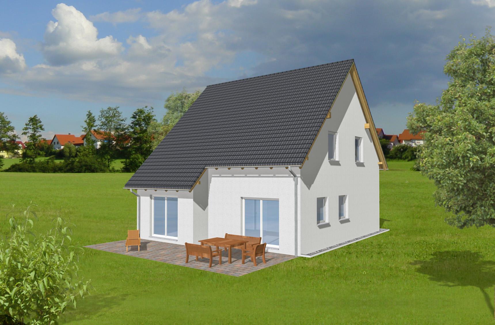 Typenhaus Naos - ALG Massivhaus GmbH Gartenansicht