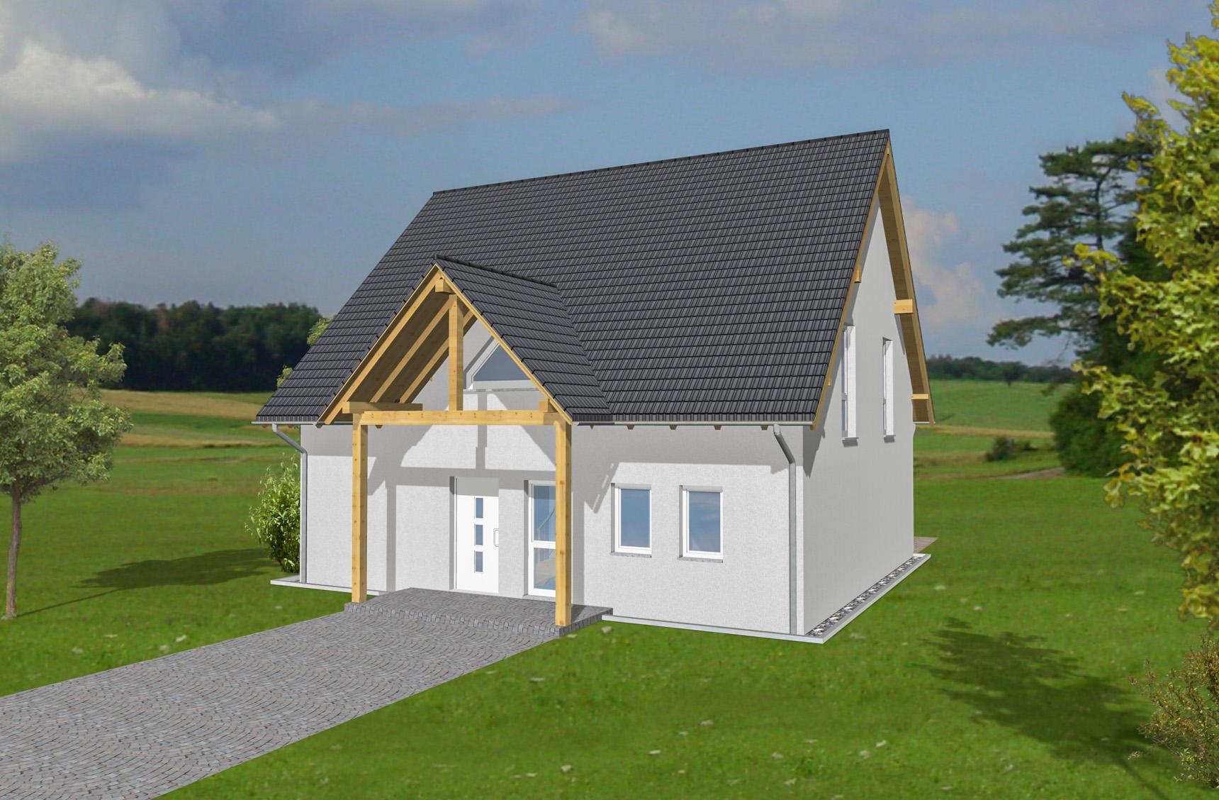 Typenhaus Nembus - ALG Massivhaus GmbH Eingangsansicht