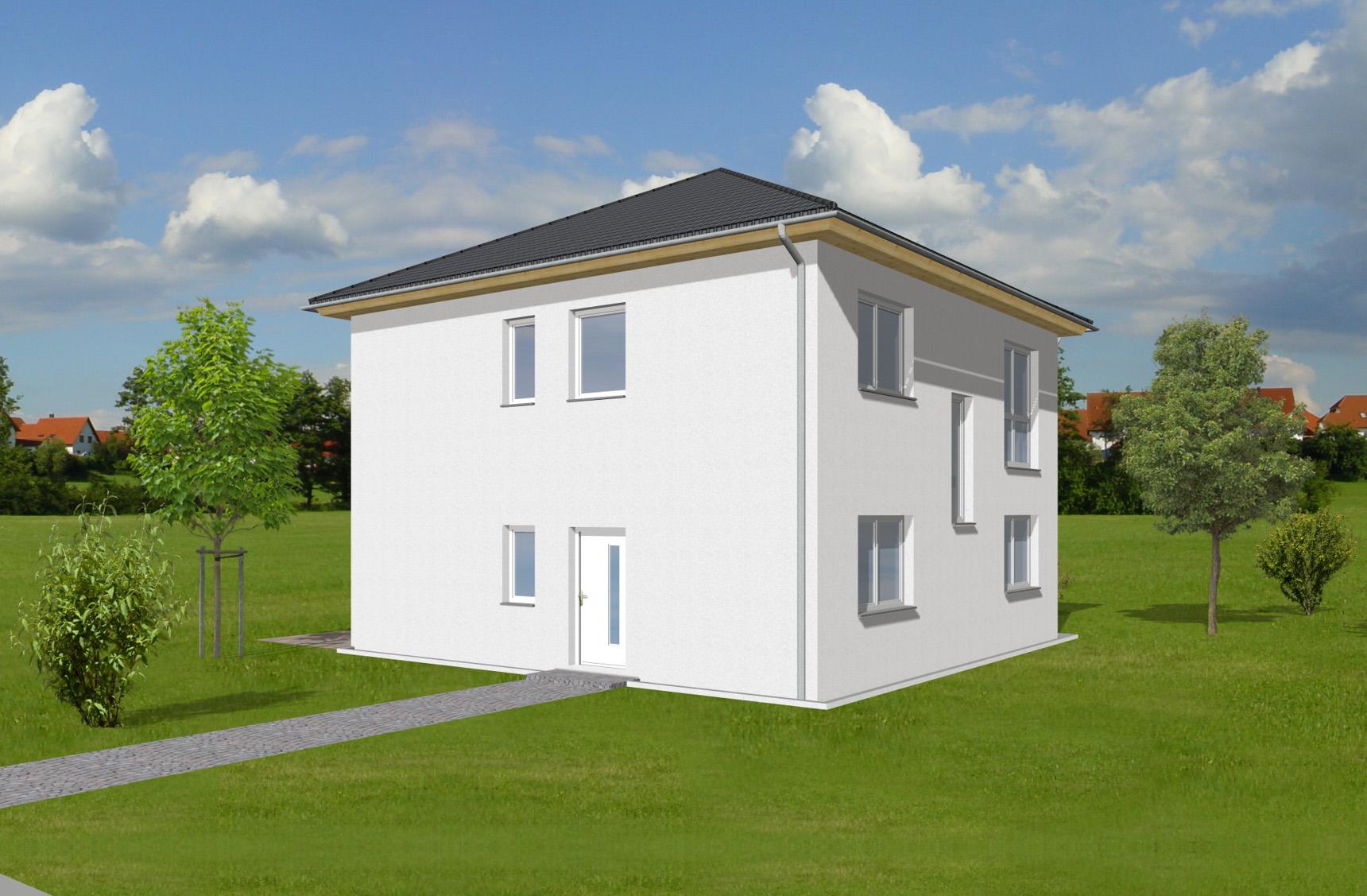 Typenhaus Pollux - ALG Massivhaus GmbH Eingangsansicht