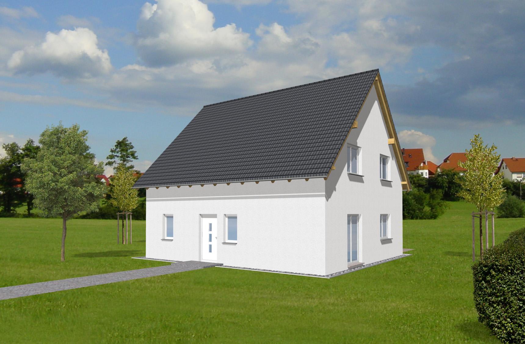 Typenhaus Rana - ALG Massivhaus GmbH Eingangsansicht