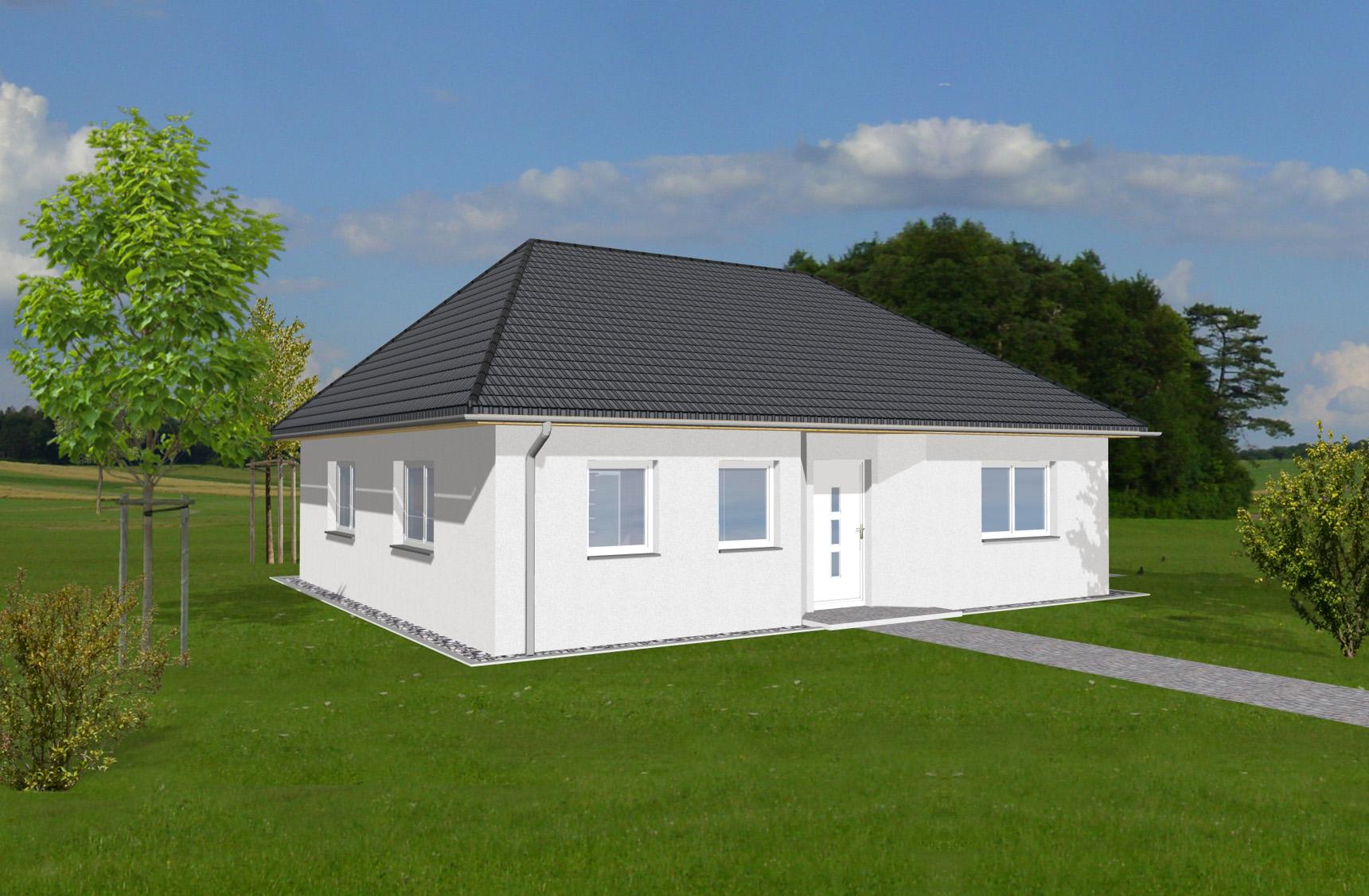 Typenhaus Regor - ALG Massivhaus GmbH Eingangsansicht