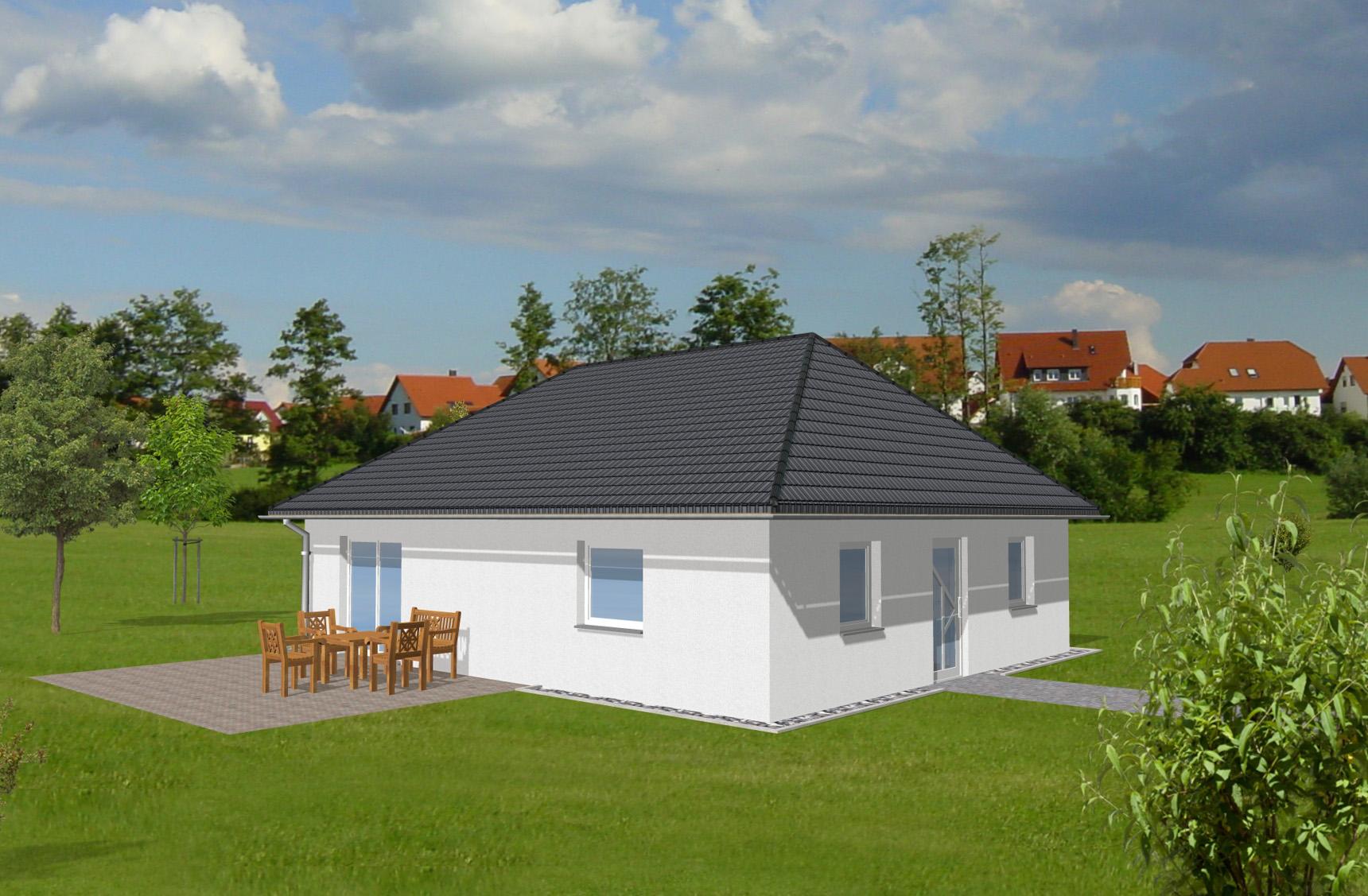 Typenhaus Rigel - ALG Massivhaus GmbH Gartenansicht