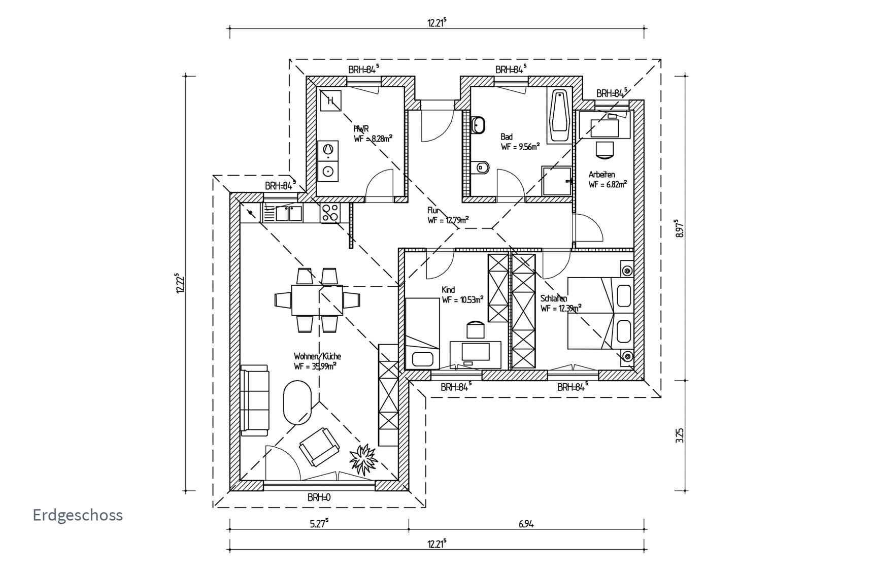 Typenhaus Betria - ALG Massivhaus GmbH Grundriss EG