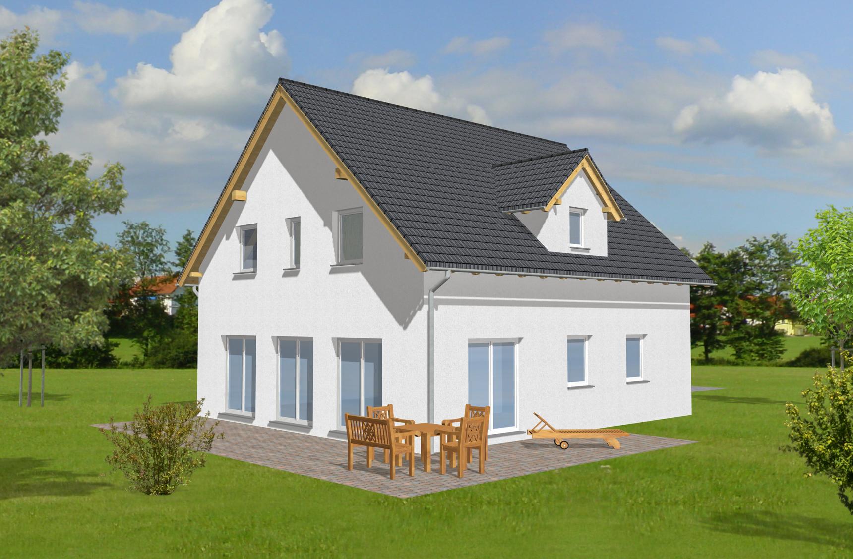 Typenhaus Diadem - ALG Massivhaus GmbH Gartenansicht