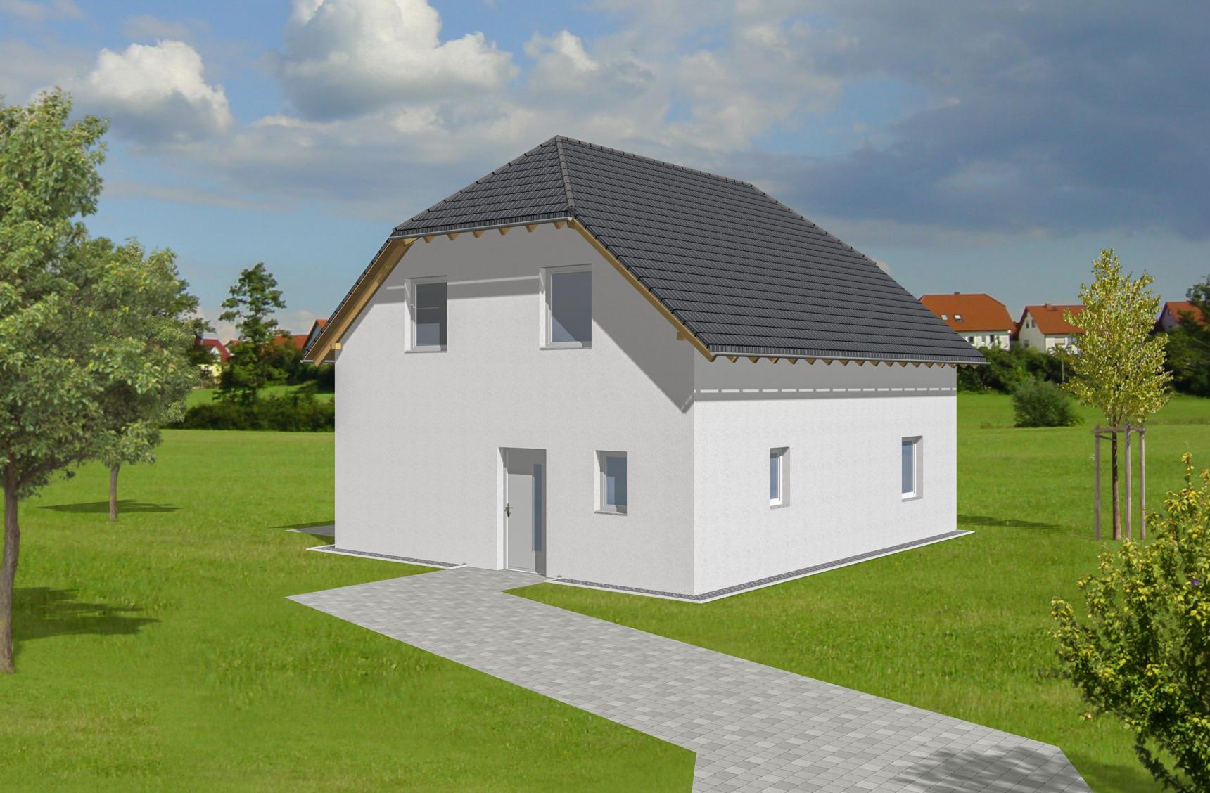 Typenhaus Kuma - ALG Massivhaus GmbH Eingangsansicht
